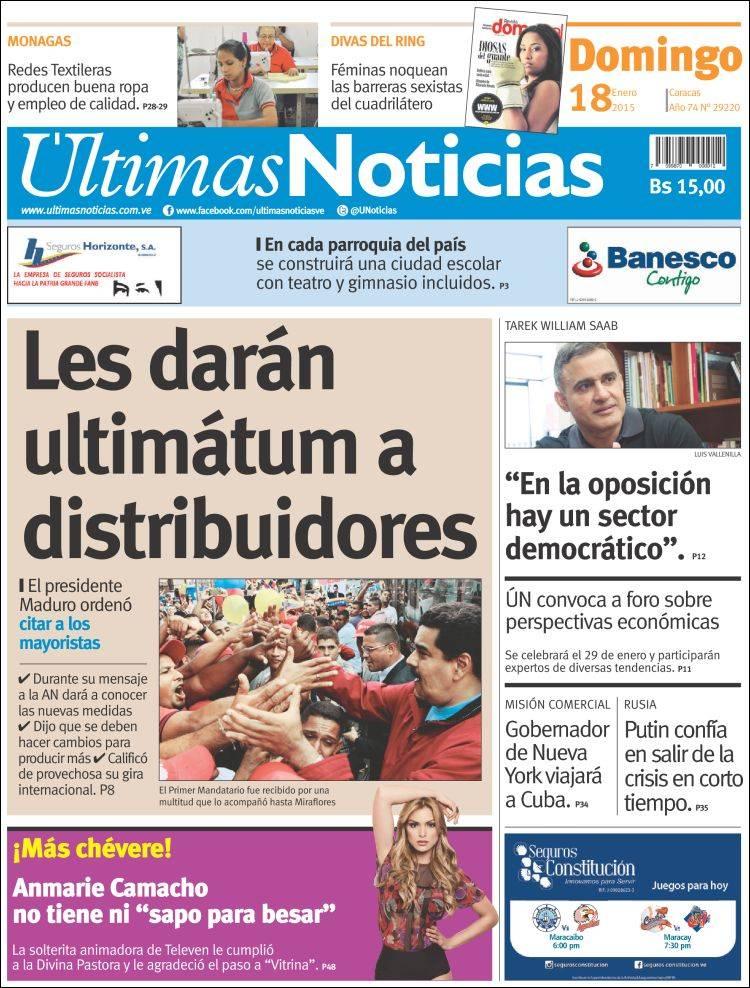 Peri dico ltimas noticias venezuela peri dicos de for Ultimas noticias dela farandula