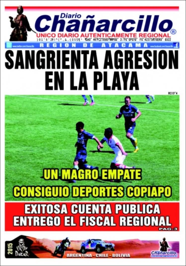Portada de Diario Chañarcillo (Chile)