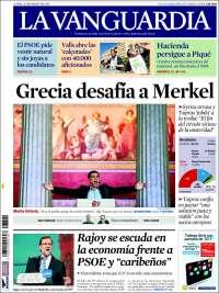 Portada de La Vanguardia (España)
