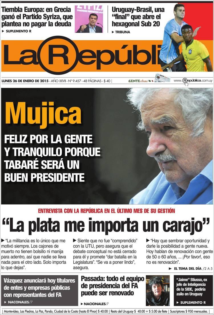 Portada de La República (Uruguay)