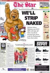 Portada de The Star (Sudáfrica)