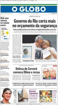 Portada de O Globo (Brasil)