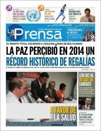 Portada de La Prensa (Bolivia)