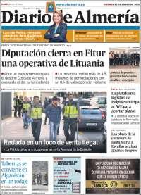Portada de Diario de Almería (España)