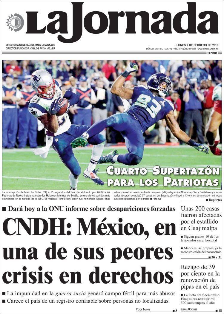 3794a8013c5f Periódico La Jornada (México). Periódicos de México. Edición de ...