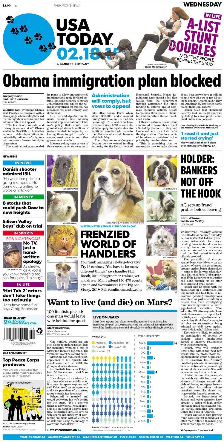 newspaper usa today usa newspapers in usa wednesday s