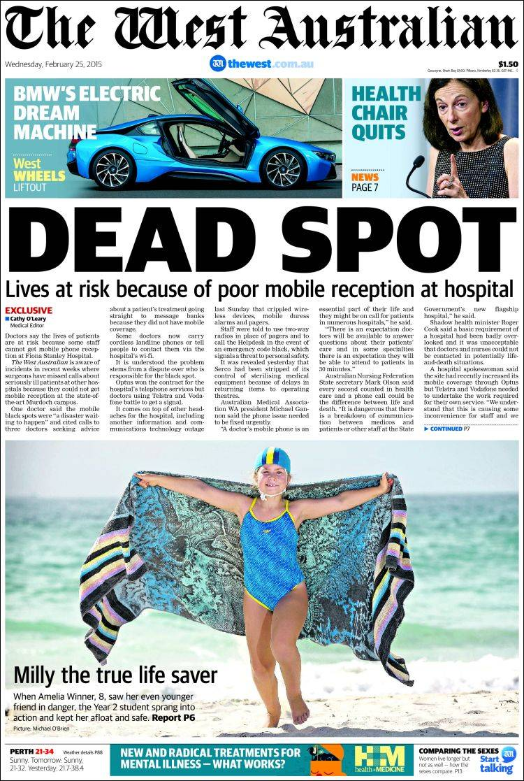 adult services courier mail newspaper Perth