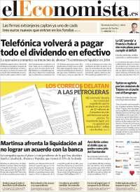 Portada de El Economista (Spain)