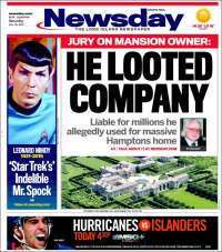 Portada de Newsday (USA)