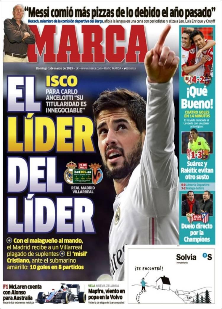 صفحه اول روزنامههای امروز اسپانیا(عکس)