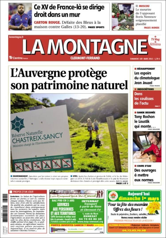Portada de La Montagne (Francia)