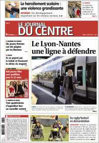 Portada de Le Journal du Centre (Francia)