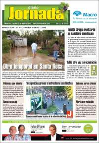Portada de Diario Jornada (Argentina)