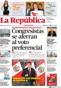 Portada de La Republica (Peru)