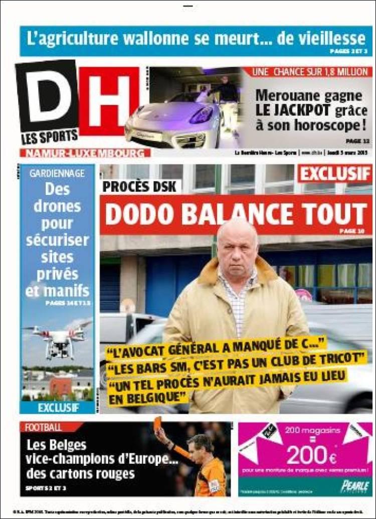 Portada de DH (Belgium)