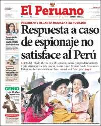 Portada de El Peruano (Perú)