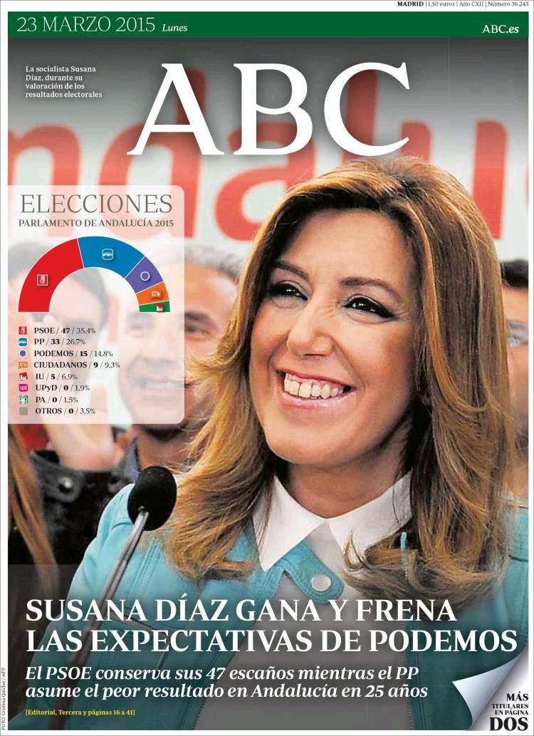 Peridico ABC Espaa Peridicos De Espaa Edicin De Lunes 23