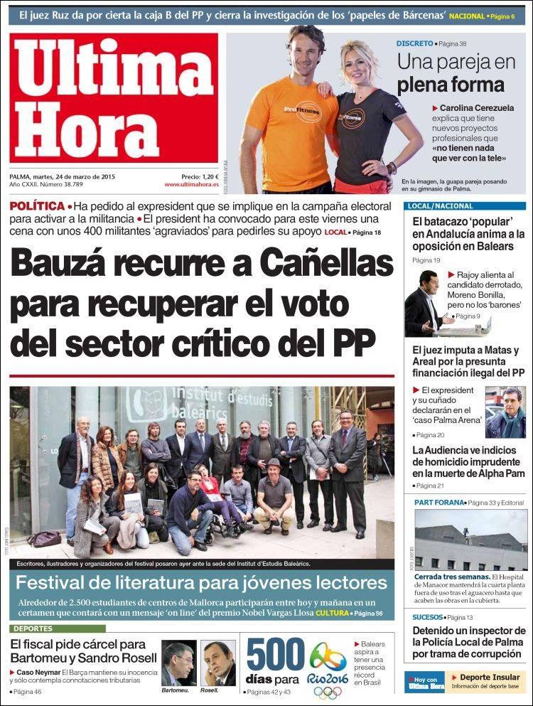 Periódico Última Hora (España). Periódicos de España. Edición de ...