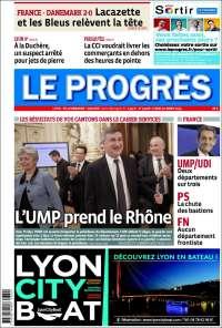 Portada de Le Progrès (Francia)