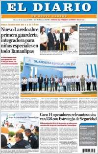 Portada de El Diario de Nuevo Laredo (Mexico)