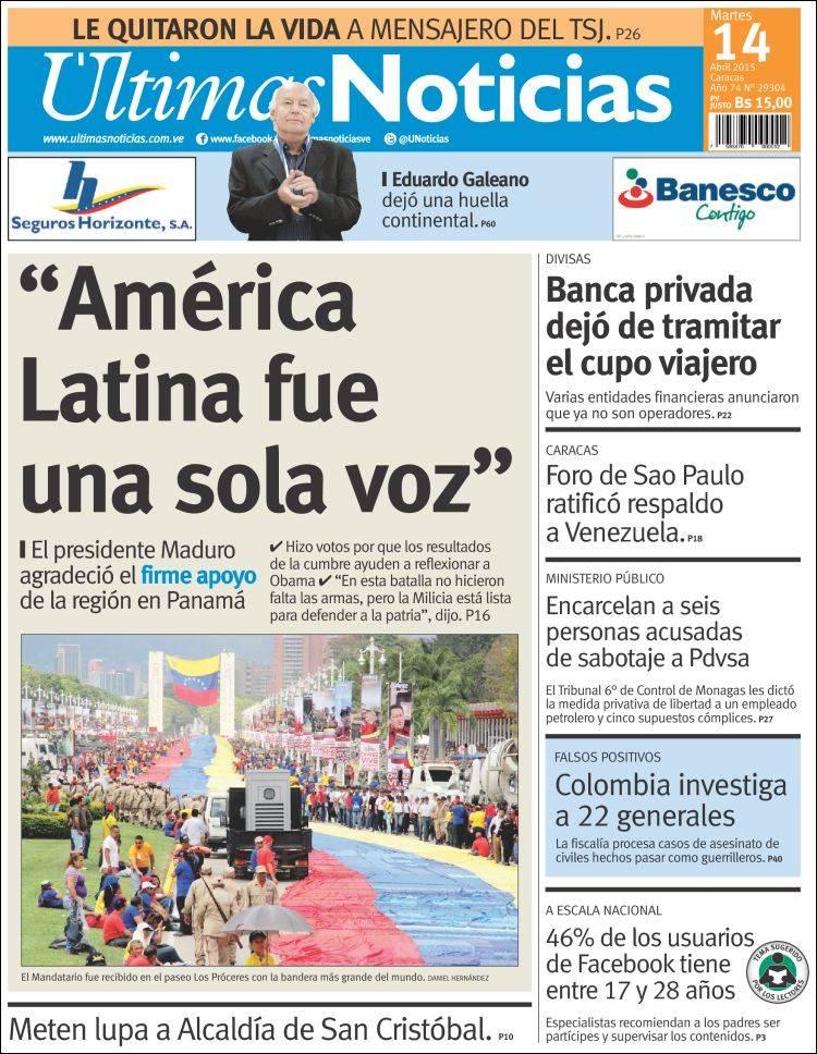 Peri dico ltimas noticias venezuela peri dicos de for Noticias actuales de espectaculos