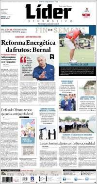 Portada de Lider Informativo (México)