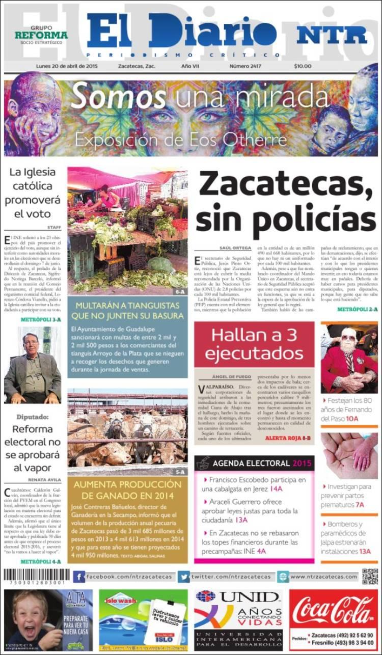 Portada de El Diario NTR (México)