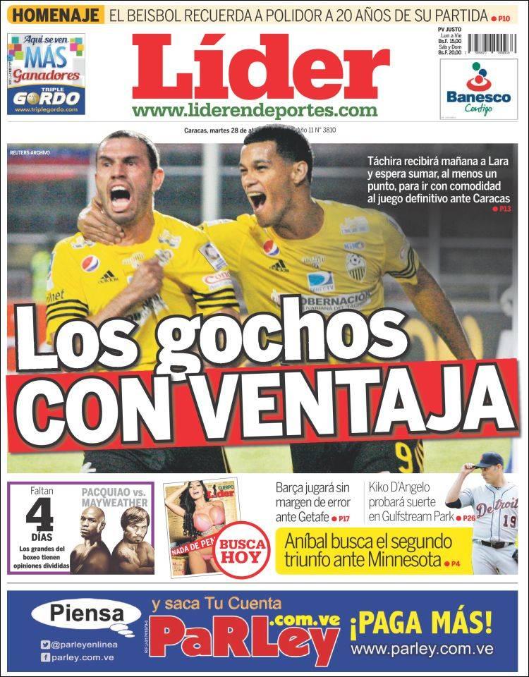 Portada de Lider en deportes (Venezuela)