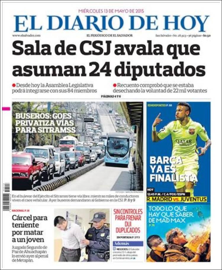 Diario Hoy Newspaper El Diario De Hoy El Salvador