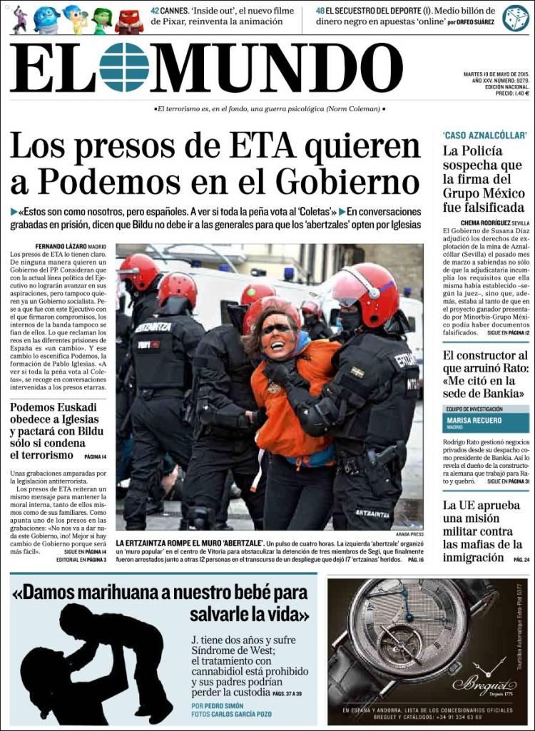 El Mundo frontpage