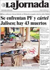 Portada de La Jornada (Mexico)