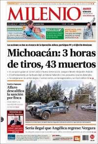 Portada de Milenio - Jalisco (México)