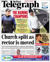 Portada de Belfast Telegraph (United Kingdom)
