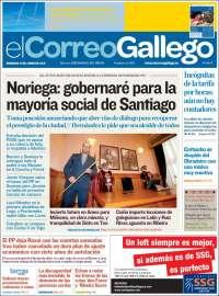 Portada de El Correo Gallego (España)