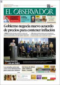 Portada de El Observador (Uruguay)