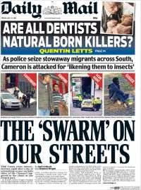 Portada de Daily Mail (Reino Unido)