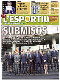Portada de L'Esportiu (Spain)