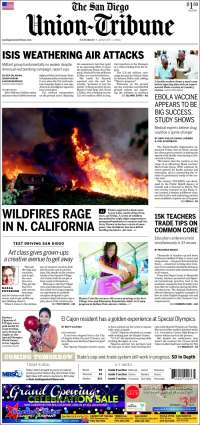 Portada de The San Diego Union-Tribune (USA)