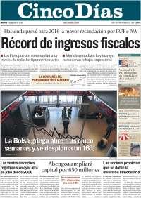 Portada de Cinco Días (Spain)