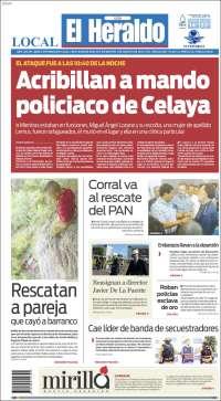 Portada de El Heraldo del Bajio (México)