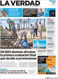 Portada de La Verdad de Alicante (España)