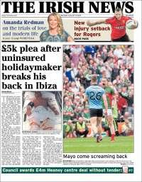 Portada de The Irish News (Ireland)