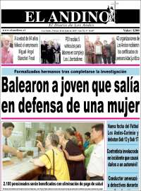 Portada de Diario El Andino (Chile)