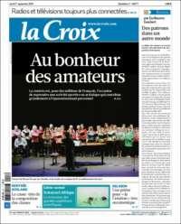 Portada de La Croix (Francia)