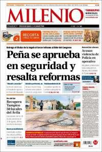 Portada de Milenio - Tamaulipas (México)