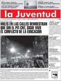 Portada de Diario La Juventud (Uruguay)