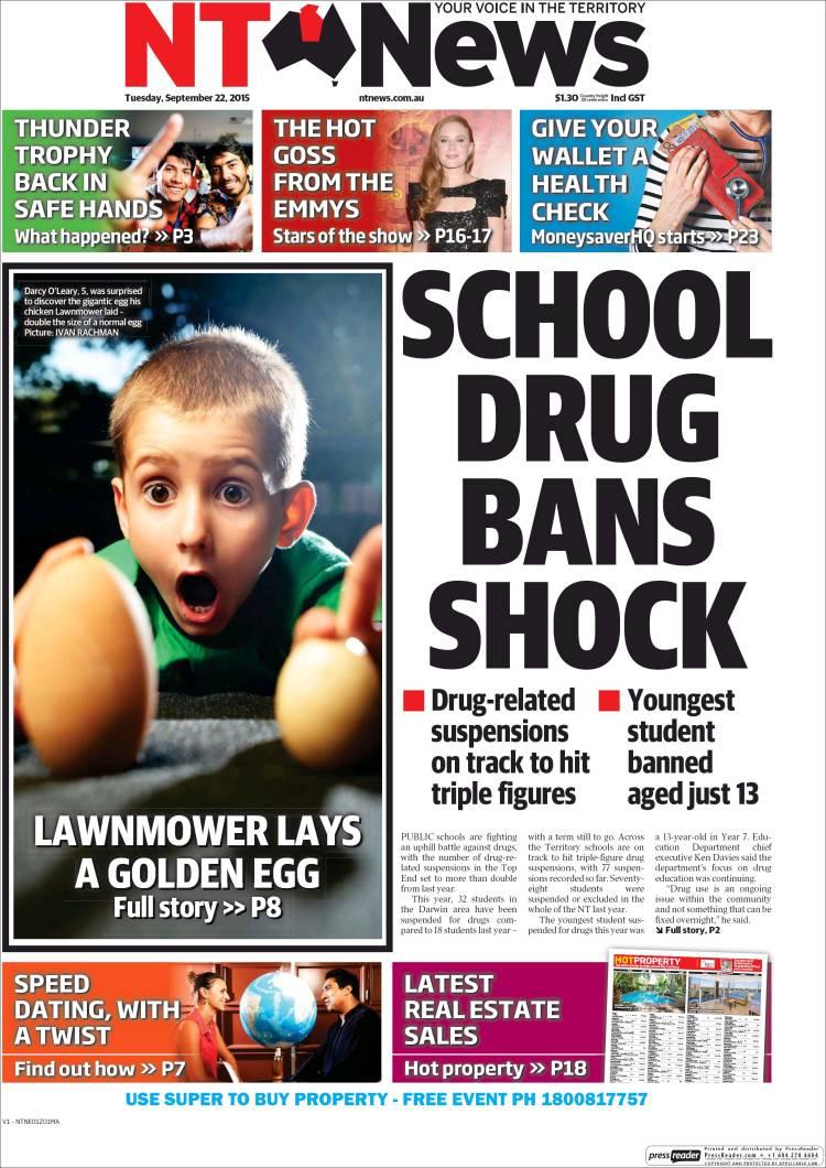 Portada de Northern Territory News (Australie)