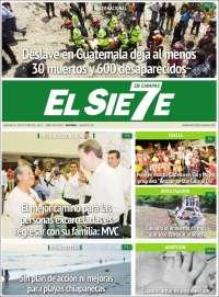 Portada de El Sie7e de Chiapas (México)