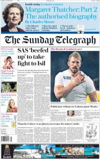 Portada de Daily Telegraph (Reino Unido)
