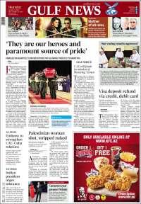 Portada de Gulf News (Asia-Pacífico)